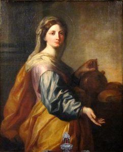 Santa Zita raffigurata da Arnould de Suez (1712)