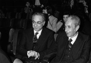 Aldo Moro con Francesco Cossiga