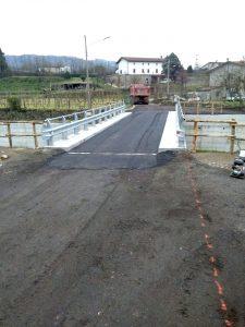Il ponte sull'Orzanella. I lavori sono ormai conclusi