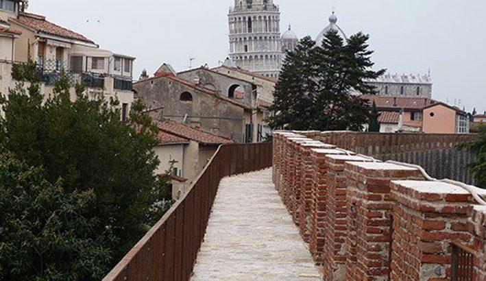 Riaperti a Pisa 3.100 metri di camminamento sulle mura della antica Repubblica marinara