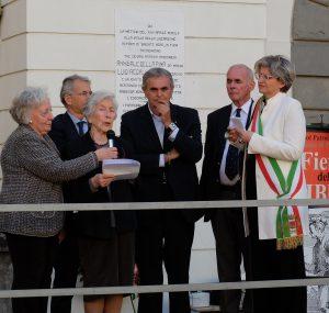Un momento della manifestazione del 25 Aprile a Pontremoli