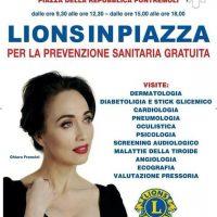 I Lions in piazza a Pontremoli per promuovere la prevenzione