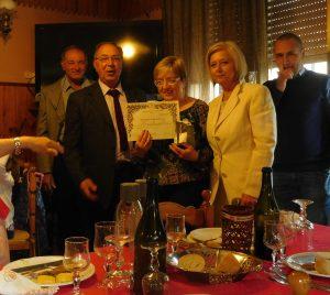 Un momento delle premiazioni dei donatori del gruppo Fratres di Zeri