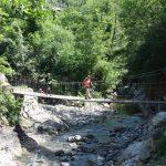 Il ponte sospeso sul torrente Civasola