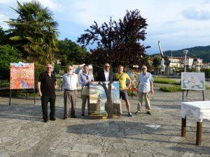 Un momento del concorso di pittura a Villafranca