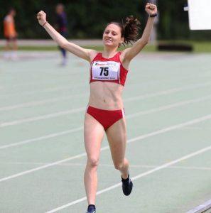 Un'immagine d'archivio di una vittoria di Chiara Ferdani
