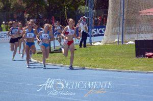 Il momento dello sprint finale ad Agropoli con Chiara Ferdani davanti a tutte.