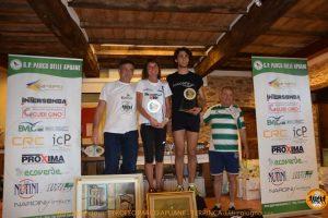 Il podio con i primi assoluti Lorenzo Razzuoli e Isabella Morlini