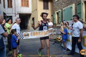 L'arrivo del vincitore Lorenzo Razzuoli
