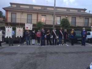 Foto con i sindaci partecipanti alla minimarcia