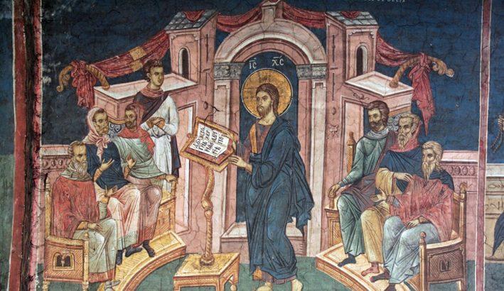 I nostri occhi sono rivolti al Signore. Gesù insegna nella sinagoga