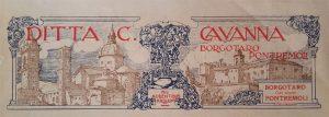 Carta intestata dell'inizio del Novecento delle tipografie Cavanna di Borgotaro e Pontremoli