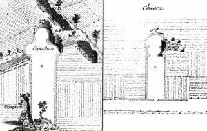 Disegni di Matteo Vinzoni del 1752 relativi all'area archeologica di Luni