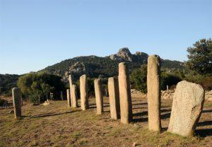 Il gruppo di menhir di Cauria Stantari nel territorio comunale di Sartène, nella Corsica meridionale