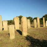 Un'altra immagine del gruppo di menhir di Cauria Stantari
