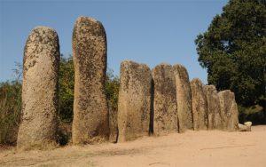 Un altro dei gruppi di menhir dell'area di Palaggiu: ve ne sono stati contati ben 258