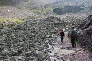 Il tracciato della strada militare verso il Monte Cauriol
