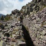 Una trincea sul Monte Cauriol