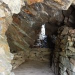 Postazione in grotta su Cima Cenon