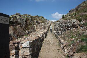 Trincee su Cima Cenon di recente recuperati grazie ad un progetto sugli itinerari della Grande Guerrra
