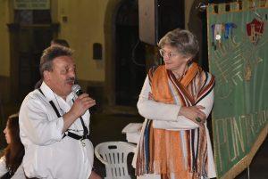 Il presidente della Musica Cittadina, Elio Poli, con il sindaco, Lucia Baracchini