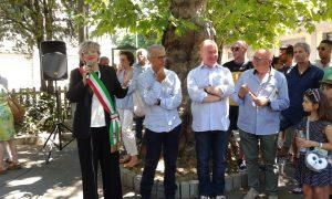 Un momento dell'iniziativa con, da sinistra, il sindaco Lucia Baracchini, l'onorevole Cosimo Ferri, Massimi Lecchini e Silvano Argenti