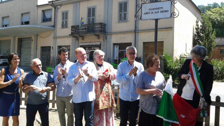 """Intitolazione dei giardinetti agli """"Amici di San Pietro"""""""