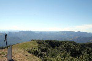 Un'immagine panoramica dal Monte Gottero