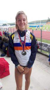 """Melissa Sarti, la giovane atleta pontremolese ha vinto sui 1.000 metri settore (ragazza) ha fermato il cronometro sul tempo di 3'07""""52"""