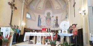 La S. Messa in onore del patrono di San Maurizio celebrata dal parroco don Pietro Giglio