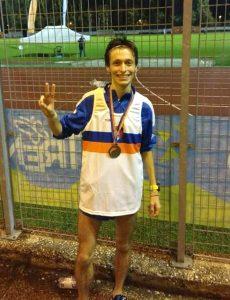 Raffaele Poletti, vincitore dei 5.000 metri