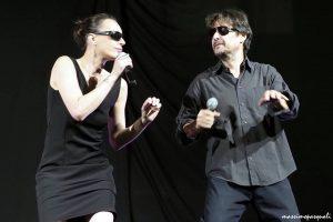 Cristina Sarti e Luca Sandri durante la serata di Virgoletta