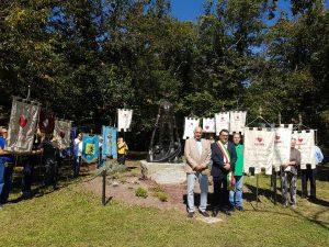 Un momento della festa dei donatori Fratres Mulazzo con il sindaco Novoa e il presidente Ballestracci