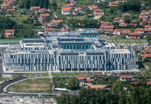 Veduta aerea del Nuovo Ospedale delle Apuane a Massa