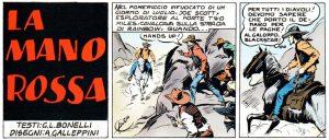 """""""La mano rossa"""", prima striscia di Tex. È il 30 settembre 1948"""
