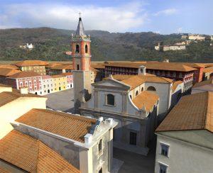 Ricostruzione grafica della pieve di San Pietro in piazza Aranci a Massa (Studio ARX)