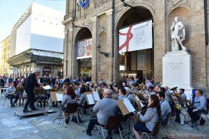 Un momento del concerto della Musica Cittadina Pontremoli a Parma