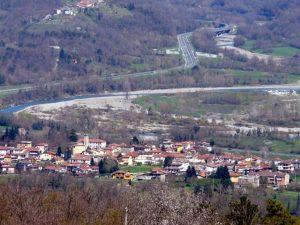Un panorama di Barbarasco di Tresana dal santuario del Gaggio a Podenzana