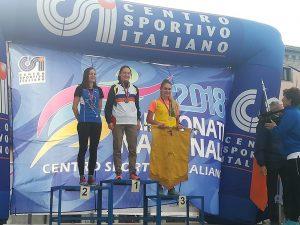 Chiara Ferdani prima nella categoria Seniores