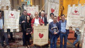 Foto di gruppo dei donatori Fratres di Massa all'incontro di Figline Valdarno