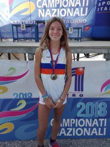 Melissa Sarti medaglia d'oro nella categoria Ragazze