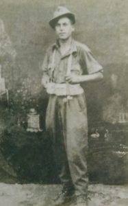 Una foto del giovane soldato Osvaldo Bartolomei