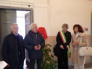 La fase di presentazione del progetto con la presenza, da sinistra, dell'onorevole Cosimo Ferri, Gianni Tarantola, del sindaco Lucia Baracchini e di Serena Pruno.