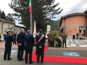 Un momento delle celebrazioni ad Aulla per la Festa delle Forze Armate e dell'Unità Nazionale
