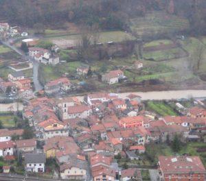 Vista dall'alto della frazione di Gragnola