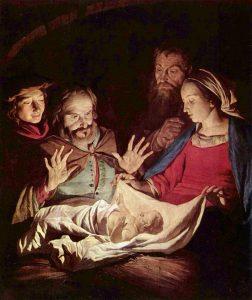 """Il quadro di Gerard van Honthors """"Adorazione dei Pastori"""""""