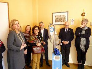 """Un momento dell'intervento di Roberta Crudeli, presidente dell'associazione """"Il volto della speranza"""""""