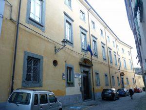 """La facciata della sede del """"Belmesseri"""" a Pontremoli"""