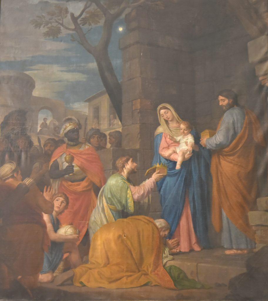 """Il quadro di Domenico Corvi """"Adorazione dei Magi"""" nel Duomo di Pontremoli"""