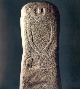 Una delle stele rinvenute a Pontevecchio nel 1905